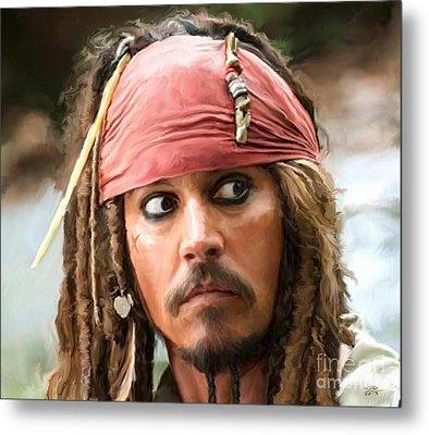 Jack Sparrow Metal Print