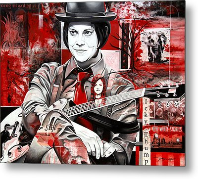Metal Print featuring the painting Jack White by Joshua Morton