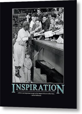 Jackie Robinson Inspiration Metal Print by Retro Images Archive
