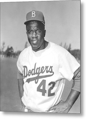 Jackie Robinson Poster Metal Print by Gianfranco Weiss