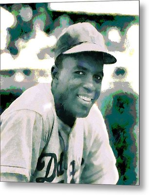 Jackie Robinson Poster Metal Print by Dan Sproul