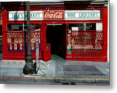 Jack's Market Metal Print by David Hohmann