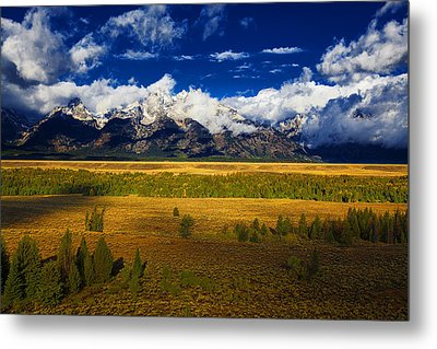 Metal Print featuring the photograph Jackson And Salt Lake Usa by Richard Wiggins