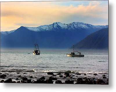 Metal Print featuring the photograph Jackson Bay South Westland New Zealand by Amanda Stadther