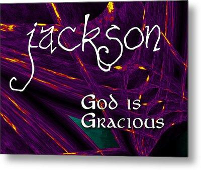 Jackson - God Is Gracious Metal Print by Christopher Gaston
