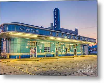 Jackson Greyhound Bus Station I Metal Print by Clarence Holmes
