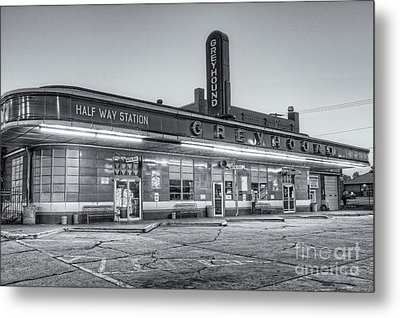 Jackson Greyhound Bus Station II Metal Print by Clarence Holmes