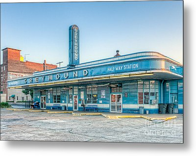 Jackson Greyhound Bus Station V Metal Print by Clarence Holmes