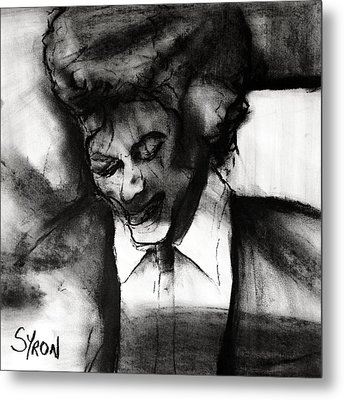 Metal Print featuring the drawing Jackson by Helen Syron