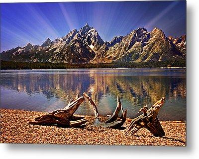 Jackson Lake Mt. Moran Metal Print by Marty Koch