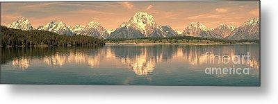 Jackson Lake Sunrise - Grand Teton Metal Print by Sandra Bronstein