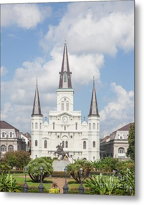 Jackson Square Cathedral Metal Print by Kay Pickens