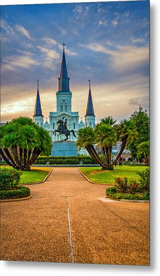 Jackson Square Cathedral Metal Print by Steve Harrington