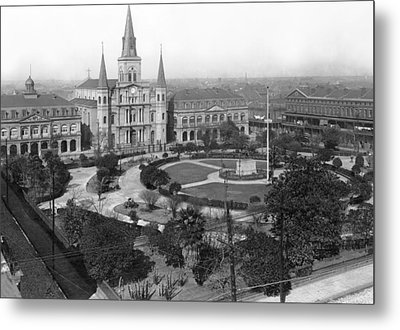 Jackson Square In New Orleans Metal Print