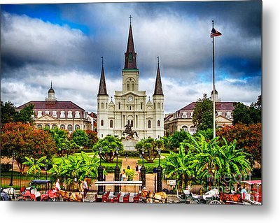 Jackson Square New Orleans Metal Print by Jarrod Erbe