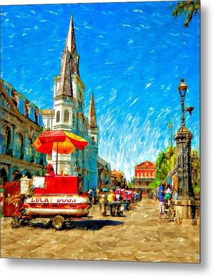 Jackson Square Painted Version Metal Print by Steve Harrington