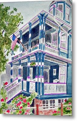 Jackson Street Inn Of Cape May Metal Print