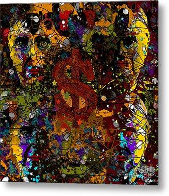 Jackson Warhol Me Metal Print