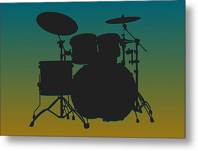 Jacksonville Jaguars Drum Set Metal Print by Joe Hamilton
