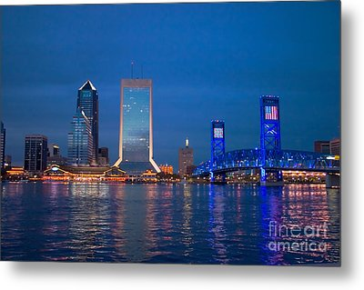 Jacksonville Nightscape Metal Print