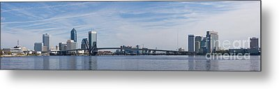 Jacksonville Skyline Panoramic Metal Print