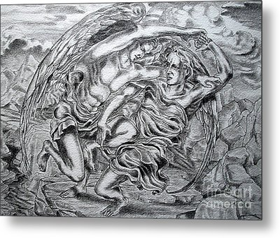 Jacob And The Angel Metal Print