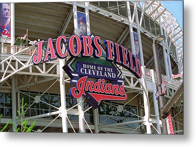 Jacobs Field - Cleveland Indians Metal Print by Frank Romeo