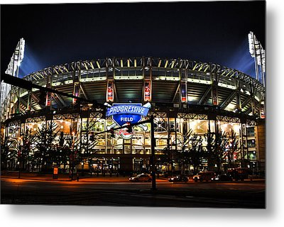 Jacobs Field Metal Print by Frozen in Time Fine Art Photography