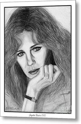 Jacqueline Bisset In 1983 Metal Print by J McCombie