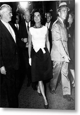 Jacqueline Kennedy Doesn't Need A Red Carpet Metal Print by Retro Images Archive