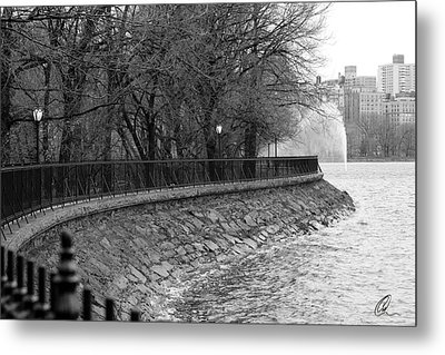 Jacqueline Kennedy Onassis Reservoir Ny Metal Print by Chris Thomas