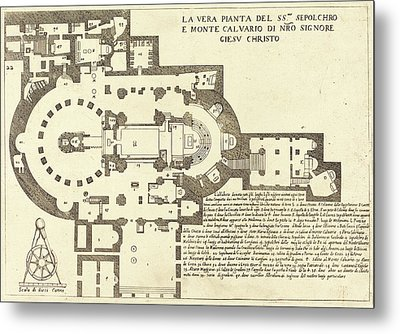 Jacques Callot French, 1592 - 1635, Plan Of The Holy Metal Print