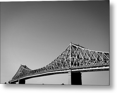 Jacques Cartier Bridge Montreal Metro 1 Metal Print by Eric Soucy