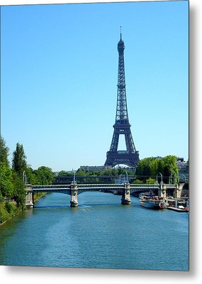 Metal Print featuring the photograph J'adore Paris by Kay Gilley
