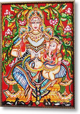 Jaganmatha Metal Print by Jayashree