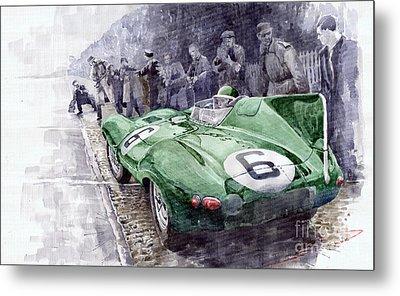 Jaguar D-type  1955 Le Mans  Metal Print by Yuriy Shevchuk