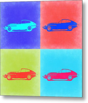 Jaguar E Type Pop Art 2 Metal Print by Naxart Studio