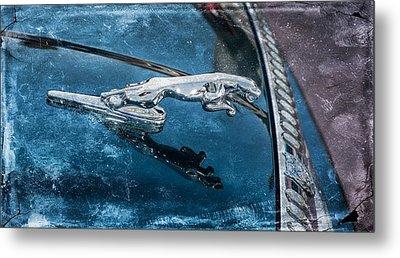 Jaguar Hood Ornament Metal Print by Michael Moriarty