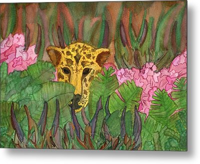Jaguar Prowl Metal Print