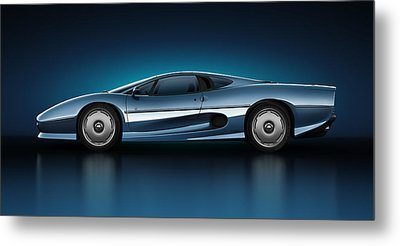 Jaguar Xj220 - Azure Metal Print by Marc Orphanos