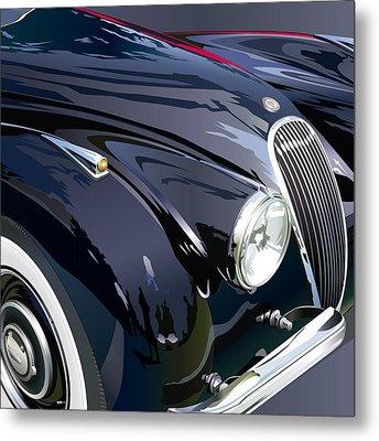 Jaguar Xk 120se R Detail Metal Print by Alain Jamar
