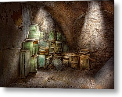 Jail - Eastern State Penitentiary - Cabinet Members  Metal Print by Mike Savad