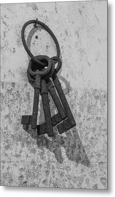 Metal Print featuring the photograph Jail House Keys by Patricia Schaefer