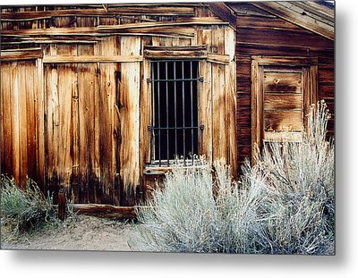 Metal Print featuring the photograph Jailhouse In Bodie State Park California by Mary Bedy