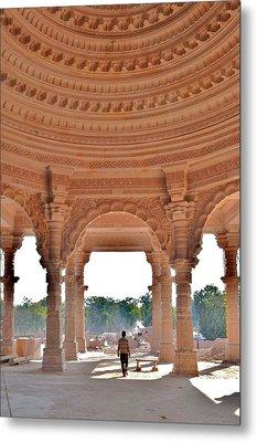 Jain Temple Entrance - Amarkantak India Metal Print by Kim Bemis