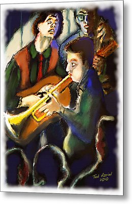 Metal Print featuring the digital art Jam Session by Ted Azriel