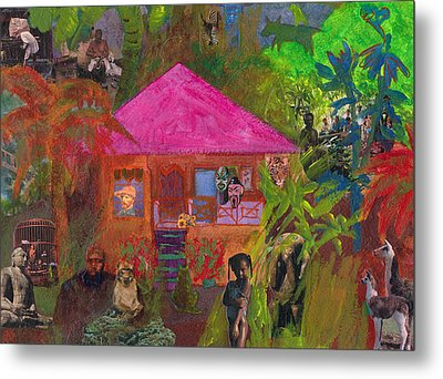 Metal Print featuring the mixed media Jamaican Holiday by Catherine Redmayne