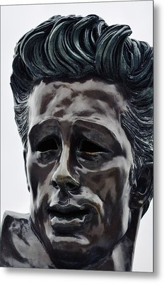 Metal Print featuring the photograph James Dean The Rebel by Kyle Hanson