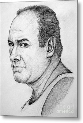 Metal Print featuring the drawing James Gandolfini by Patrice Torrillo