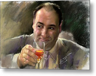 James Gandolfini Metal Print by Viola El